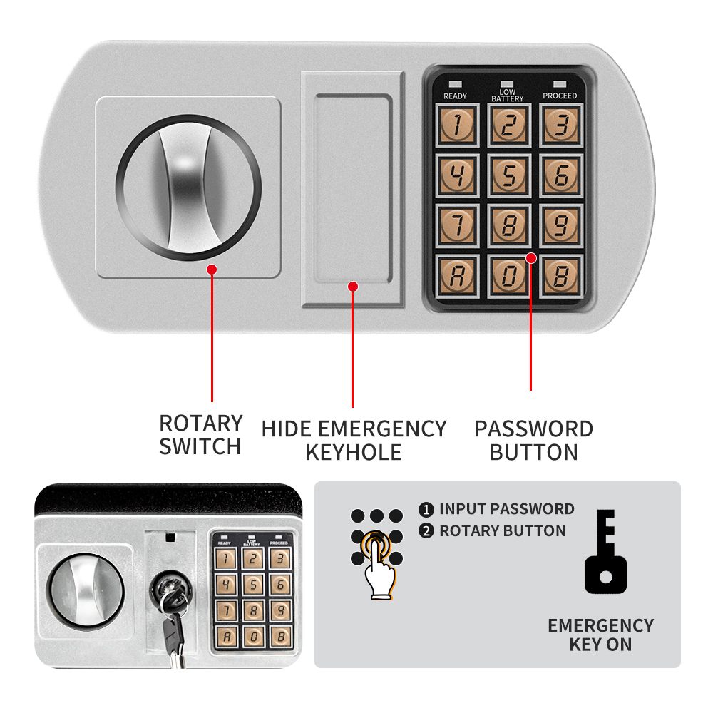 25 safe safe box secure safe box digit lock safe