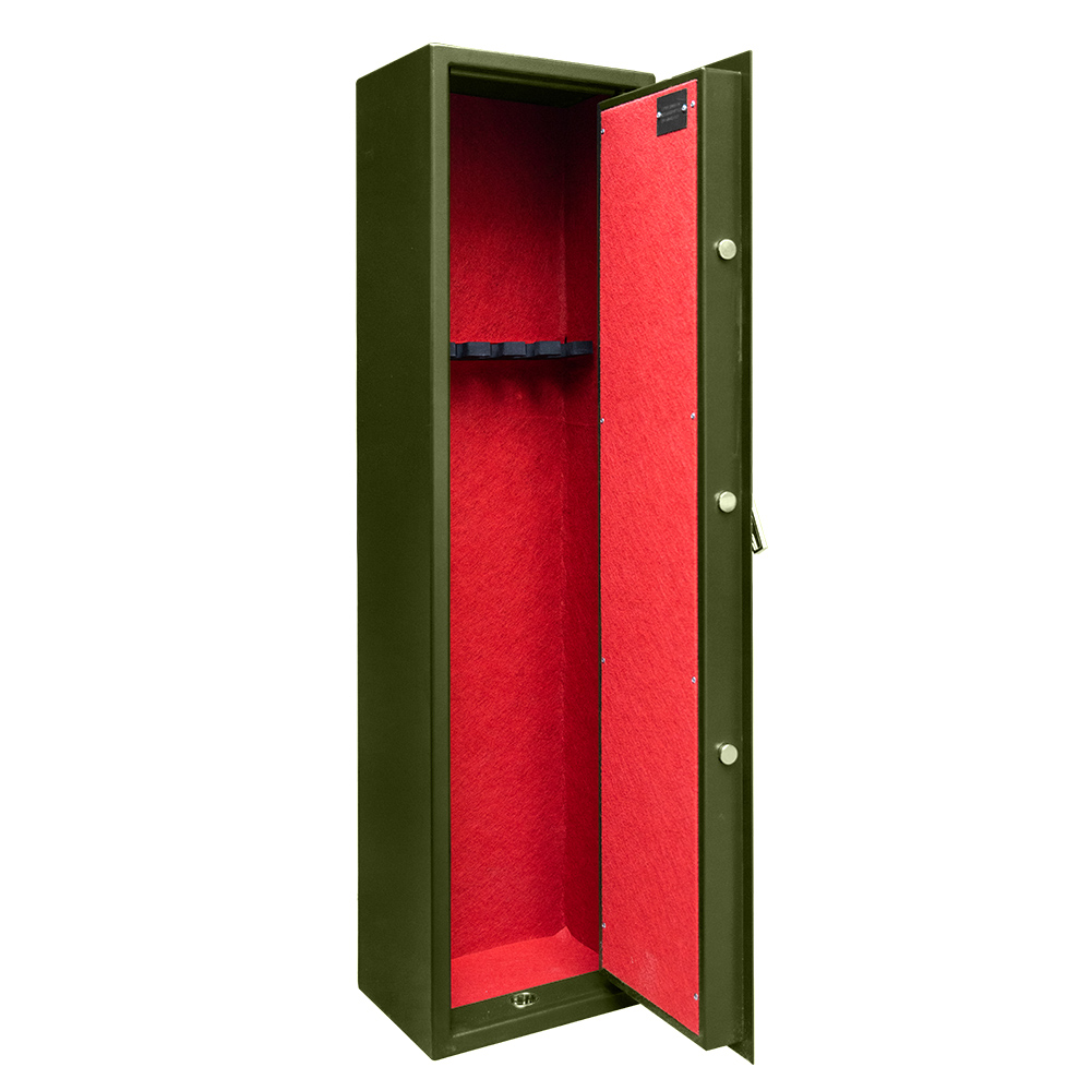 gun rifle storage safe cabinet,with 1 machanical lock and 1 handle (meahnical lock with handle)
